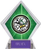Bust-Out Soccer Green Diamond Ice Trophy