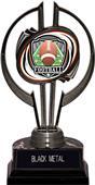 "Black Hurricane 7"" Shield Football Trophy"