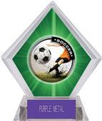 P.R. Male Soccer Green Diamond Ice Trophy