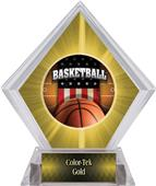 Award Patriot Basketball Yellow Diamond Ice Trophy