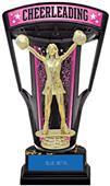 "Hasty Awards 9.25"" Stadium Back Cheer Trophy"