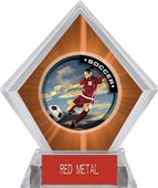 P.R. Female Soccer Orange Diamond Ice Trophy