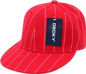 Decky Pin Striped 6-Panel Fitted Baseball Caps