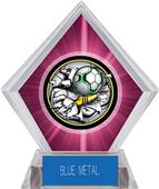 Awards Bust-Out Soccer Pink Diamond Ice Trophy