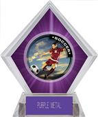 P.R. Female Soccer Purple Diamond Ice Trophy