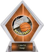 HD Basketball Orange Diamond Ice Trophy