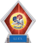 Hasty Awards HD Cheer Red Diamond Ice Trophy