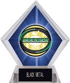 Awards Classic Soccer Blue Diamond Ice Trophy