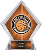 Eclipse Basketball Orange Diamond Ice Trophy