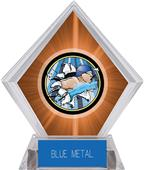 Hasty Awards Orange Diamond Swimming Ice Trophy