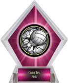 Bust-Out Volleyball Pink Diamond Ice Trophy