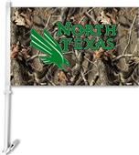 COLLEGIATE North Texas Realtree Camo Car Flag
