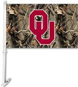 COLLEGIATE Oklahoma Realtree Camo Car Flag