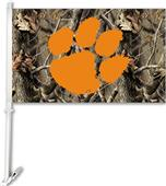 COLLEGIATE Clemson Realtree Camo Car Flag