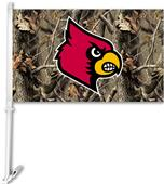 COLLEGIATE Louisville Realtree Camo Car Flag