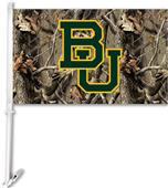 COLLEGIATE Baylor Realtree Camo Car Flag