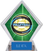 Award Classic Volleyball Green Diamond Ice Trophy