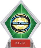 Award Classic Volleyball Green Diamond Ice Trophy