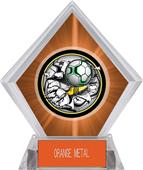 Awards Bust-Out Soccer Orange Diamond Ice Trophy