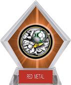 Awards Bust-Out Soccer Orange Diamond Ice Trophy