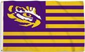 COLLEGIATE LSU-Eye Stripes 3' x 5' Flag w/Grommets