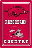 "COLLEGIATE Arkansas 12""x18"" Metal Sign"