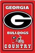 "COLLEGIATE Georgia 12""x18"" Metal Sign"