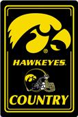 "COLLEGIATE Iowa 12""x18"" Metal Sign"