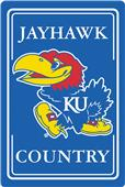 "COLLEGIATE Kansas 12""x18"" Metal Sign"