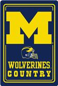 "COLLEGIATE Michigan 12""x18"" Metal Sign"