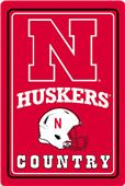 "COLLEGIATE Nebraska 12""x18"" Metal Sign"