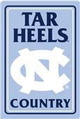 "COLLEGIATE North Carolina 12""x18"" Metal Sign"