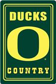 "COLLEGIATE Oregon 12""x18"" Metal Sign"
