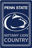 "COLLEGIATE Penn State 12""x18"" Metal Sign"