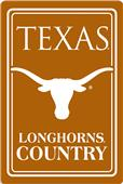 "COLLEGIATE Texas 12""x18"" Metal Sign"