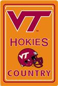 "COLLEGIATE Virginia Tech 12""x18"" Metal Sign"