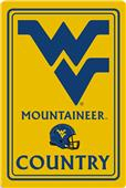 "COLLEGIATE West Virginia 12""x18"" Metal Sign"
