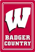 "COLLEGIATE Wisconsin 12""x18"" Metal Sign"