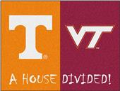 FanMats Tennessee/VirgininiaTech House Divided Mat
