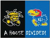 Fan Mats Wichita State/Kansas House Divided Mat