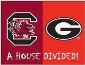 Fan Mats South Carolina/Georgia House Divided Mat