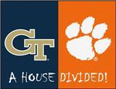Fan Mats Georgia Tech/Clemson House Divided Mat