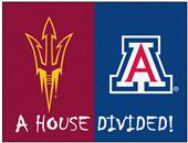 Fan Mats Arizona State/Arizona House Divided Mat