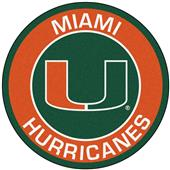 Fan Mats University of Miami Roundel Mat