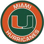 Fan Mats University of Miami Roundel Mat