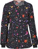 Code Happy Womens Snap Front Warm-Up Scrub Jacket