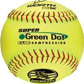 "Worth WSL Super Green Dot 11"" Slowpitch Softballs"