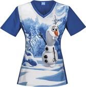 Cherokee Disney Frozen Chillin with Olaf Scrub Top
