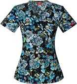 Dickies Women's Mock Wrap Scrub Top
