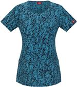 Dickies Women's Jr Fit Mock Wrap Scrub Top
